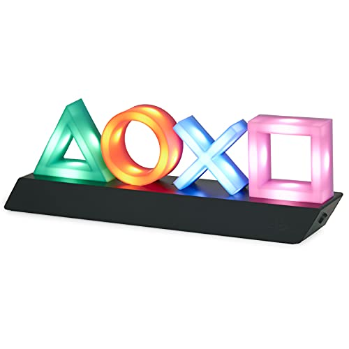 Paladone Playstation Icons Light mit 3 Lichtmodi - Musikreaktive Spielraumbeleuchtung