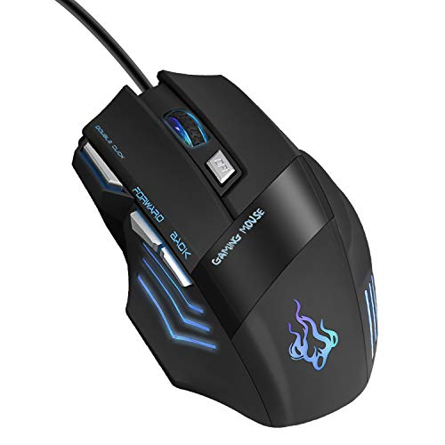QueenDer Gaming Maus USB Kabel Mäuse Wired Hohe...