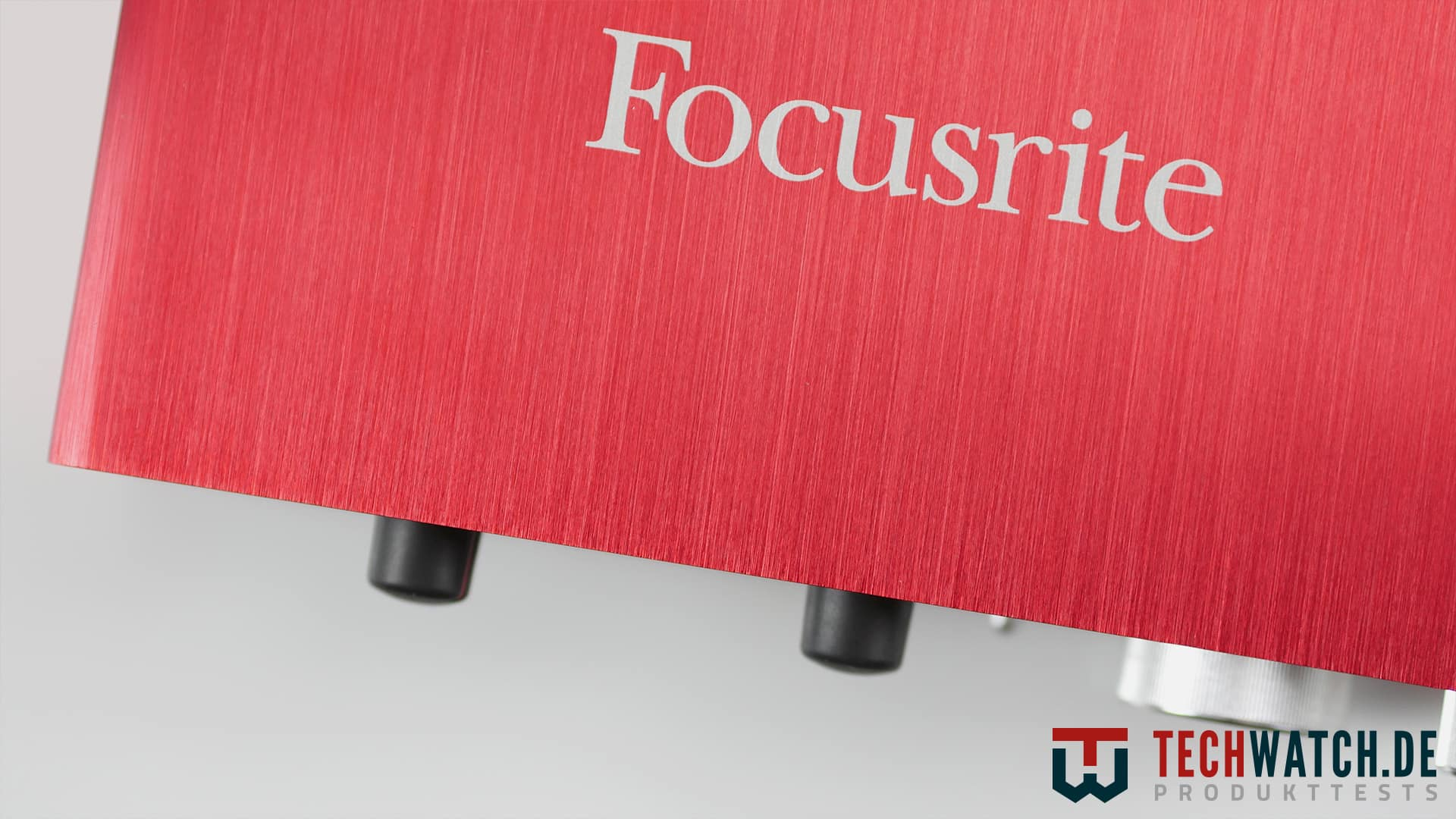 Oberseite der Focusrite Scarlett 2i2