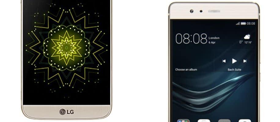 LG G6 und Huawei P10 nebeneinander