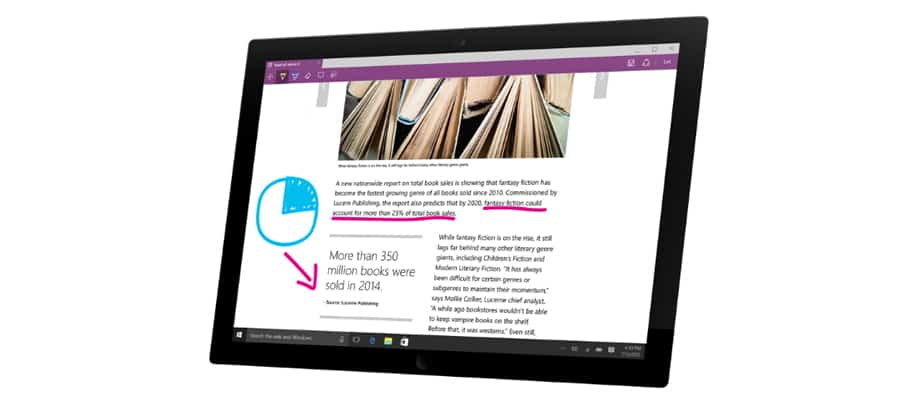 Microsoft Edge auf Surface-Gerät