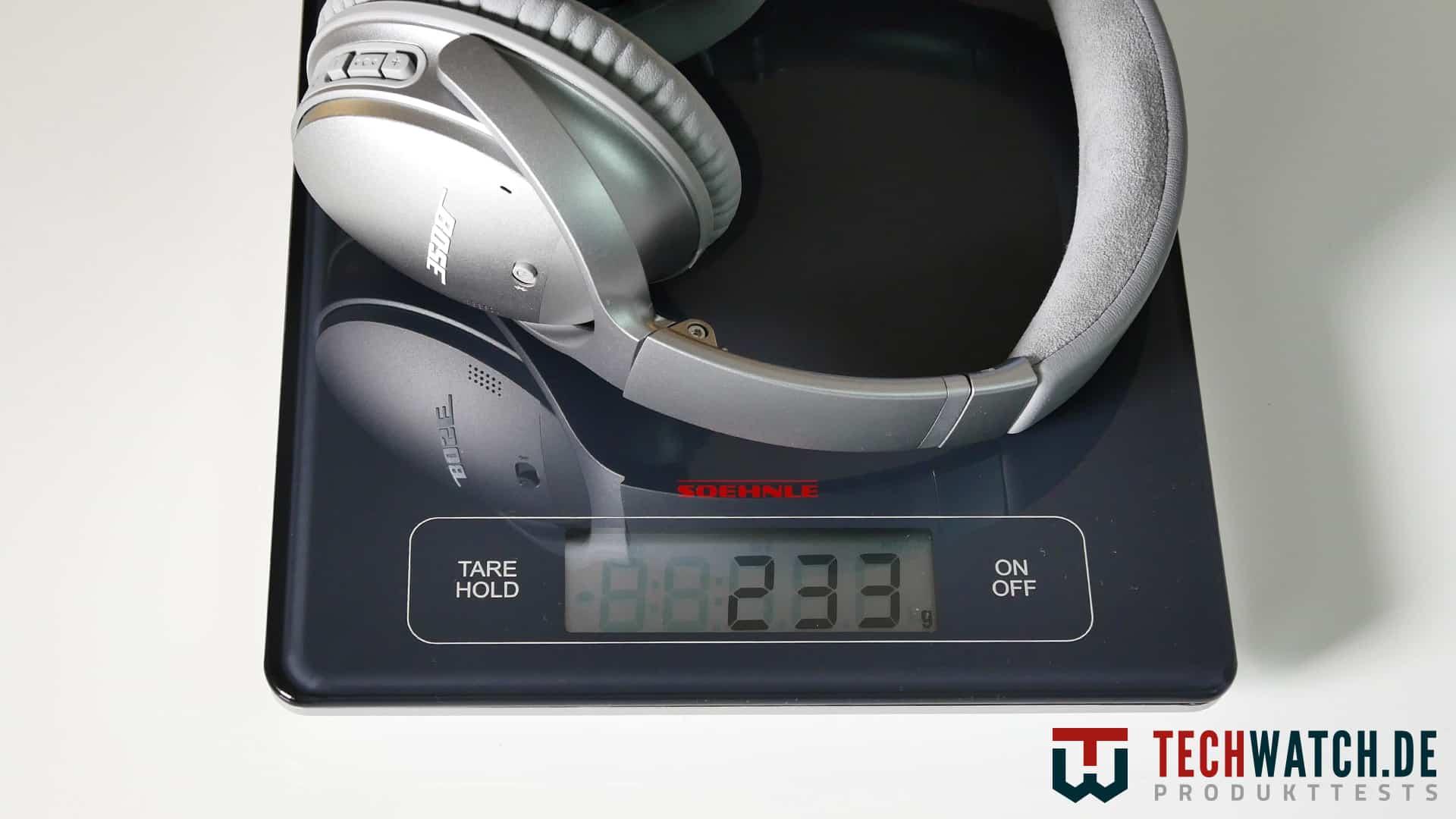 Bose QuietComfort 35 Gewicht