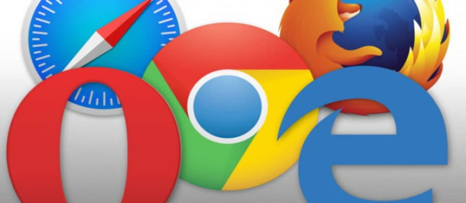 Verschiedene Webbrowser Logos nebeneinander