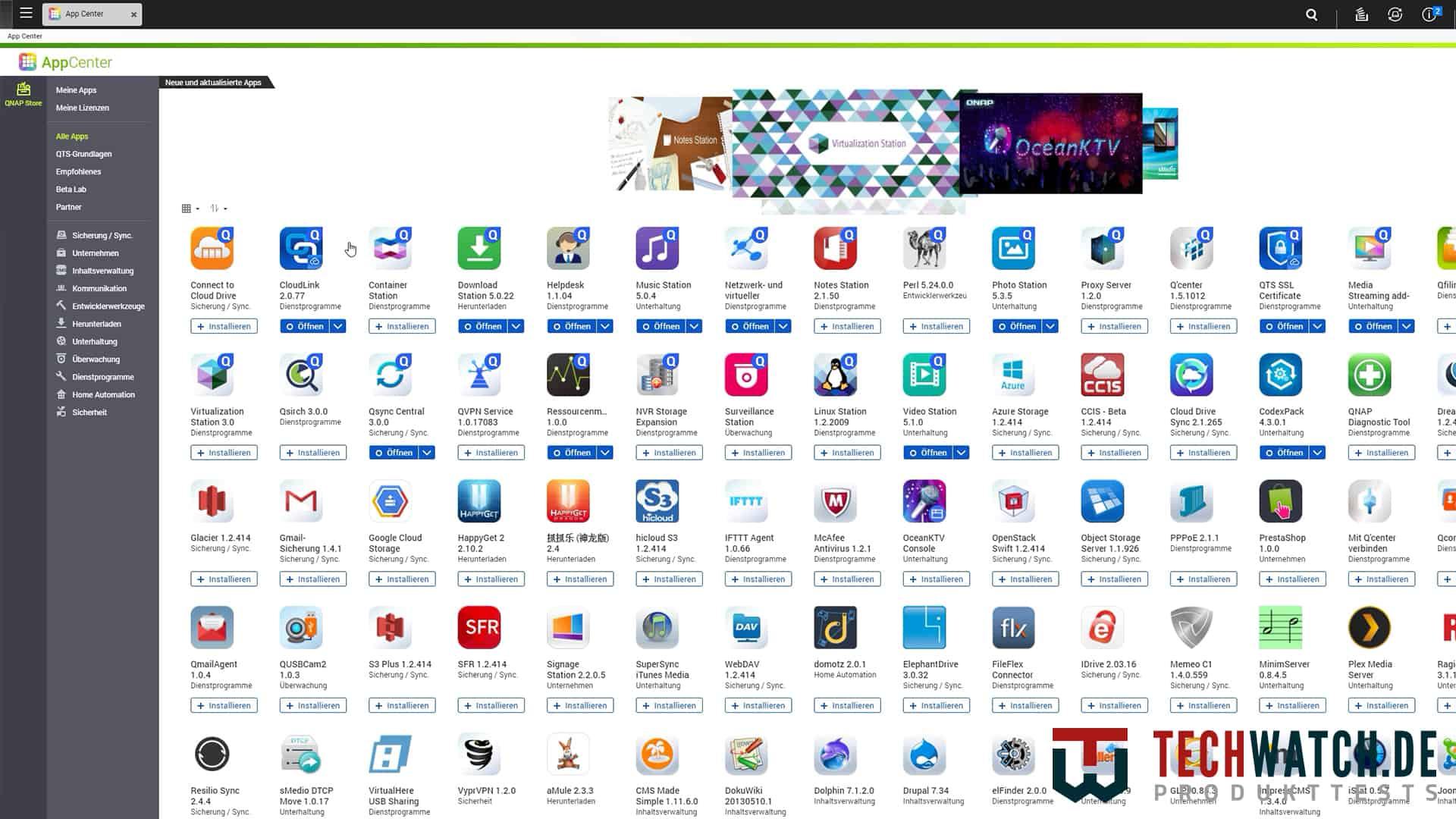 QNAP TS-251+ App Store