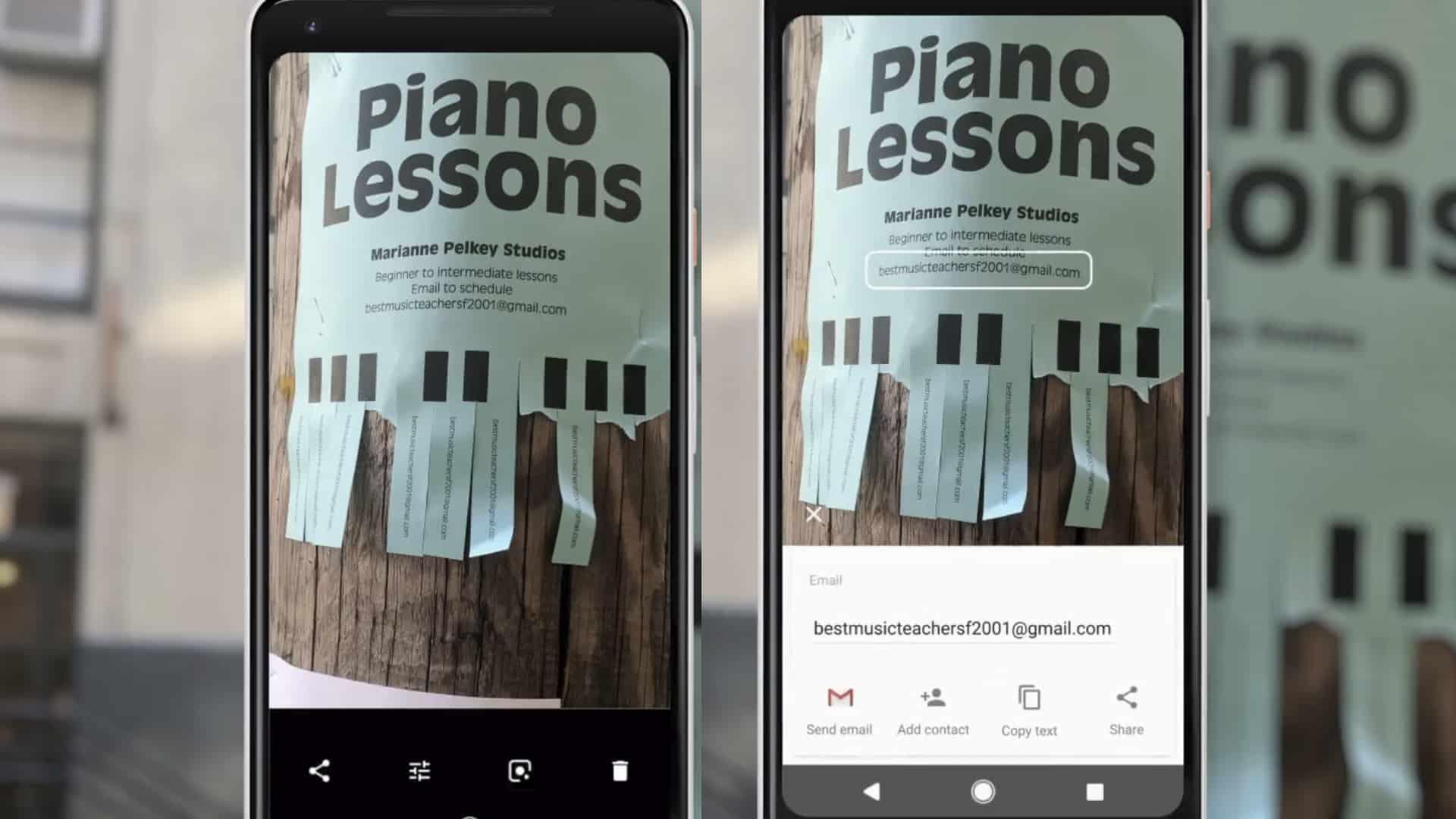 Google Lens Aushang