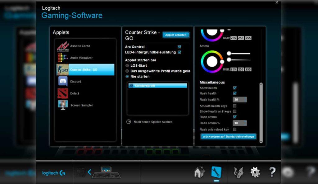 Logitech Gaming Software Applets