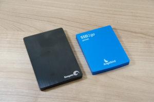 Angelbird SSD2go pocket - Vergleich zur Seagate Backup Plus Slim portable (2,5 Zoll)