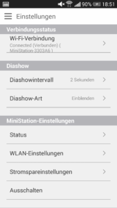 Buffalo MiniStation Air 2 - App Einstellungen